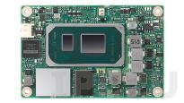 SOM-7583C5-S5A1 Процессорная плата COM Express R3.0 Type 10, Intel Core i5-1145G7E 1.5ГГц, 8Гб LPDDR4X, 32Гб SSD, eDP/DDI, GbE, 2xCOM, 2xUSB 3.2, 8xUSB 2.0, 4xPCIe x1, 1xPCIe x4, SMBus, I2C, с радиатором