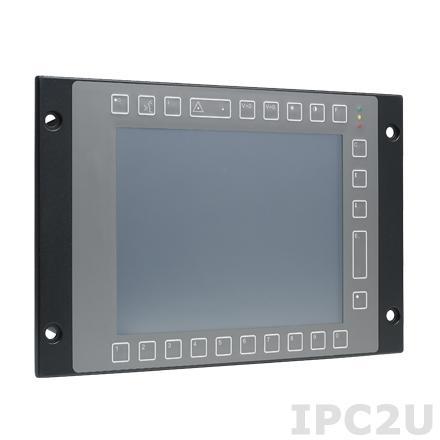 "TPC-8100TR-N3AE Безвентиляторный защищенный компьютер для ж/д с 10.4"" TFT LCD LED,защита корпуса IP65, резистивный сенсорный экран, Intel Atom N2600 1.6ГГц, 4Гб DDR3, 64Гб CFast, 10xM12 (4xCOM, 2xUSB, 2xLAN, Аудио, DC), EN50155, 72-96-110V DC"