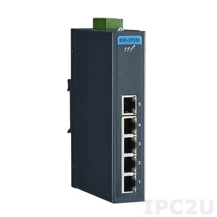 EKI-2725-CE Неуправляемый коммутатор Ethernet, 5 портов Gigabit Ethernet