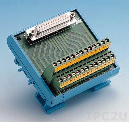 ADAM-3925-AE Плата клеммников с 25-контактным разъемом, монтаж на DIN рейку