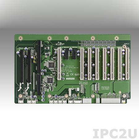 PCE-4B13-08A1E Объединительная плата половинной длины PICMG 1.3, 13 слотов, 1xPICMG 1.3, 2xPCIe x8, 2xPCIe x1, 8xPCI