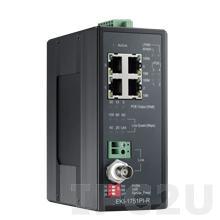 EKI-1751PI-R-AE Удлинитель Ethernet 10/100Base-T по протоколу VDSL2 (Remote), PoE Ethernet over VDSL2 (PoVDSL), до 1200 м, -40...+75