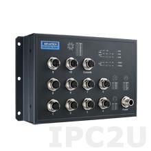 EKI-9510E-2GMPH-AE Управляемый коммутатор Ethernet, 10 портов M12 PoE, питание 72/96/110В DC, EN50155