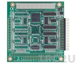 PCM-3614I-AE 4-портовая плата RS-232/422/485 для шины PC/104, разъем DB9 Male без изоляции