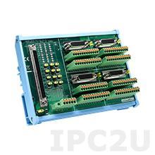 ADAM-3956-BE Плата клеммников с разъемами 100-pin SCSI, монтаж на DIN-рейку, для четырехосных систем управления движением, до 50В