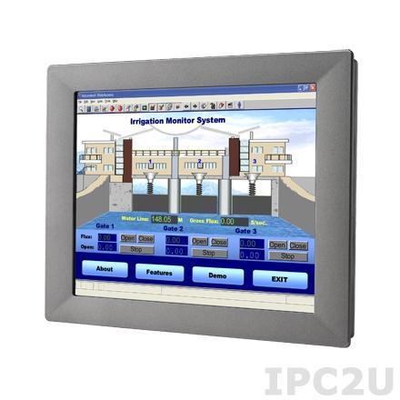 "TPC-1251H-E3AE Безвентиляторная панельная рабочая станция 12.1"" TFT LCD LED, резистивный сенсорный экран, Intel Atom E3827 1.75ГГц, 4Гб DDR3L, 1xCFast, 2xLAN, 2xCOM, 2xUSB, 1xMini PCIe, питание 24В DC"