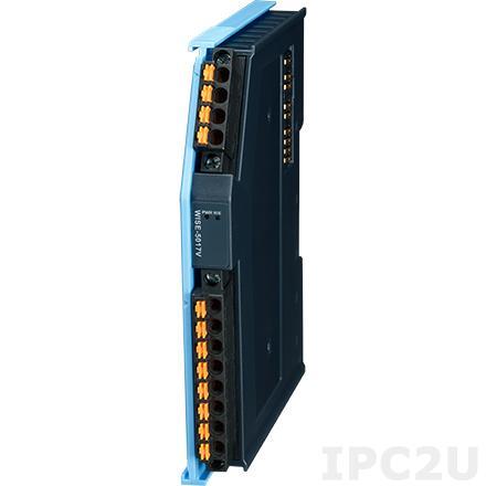 AMAX-5017V-A Модуль ввода, 6 каналов аналогового ввода (напряжение), +/-150мВ, +/-500мВ, +/-1В, +/-5В, +/-10В, питание 24В DC