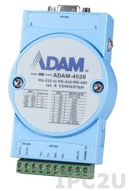 ADAM-4520-EE Конвертер RS-232 в RS-422/485, изоляция на стороне RS-232, -10...+70С