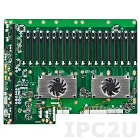 PCE-5B19-00A1E Объединительная плата PICMG 1.3, 19 слотов, 1xPICMG 1.3, 17xPCIe x16, 1xPCIe x4