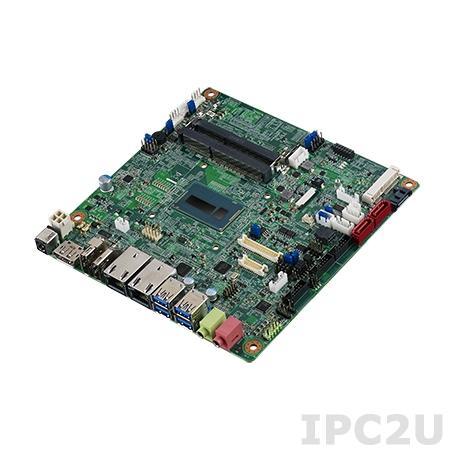 AIMB-231G2Z-U3A1E Процессорная плата Mini-ITX, Intel Core i3-5010U 2.1ГГц, 2x204-pin DDR3L SO-DIMM, 2xCOM, 6xUSB, 2xGbE LAN, 3xSATA III, mSATA, HDMI, 2xDP, LVDS, 2xMini PCIe, Аудио, -20 ~ 70C