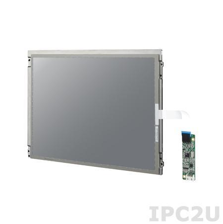 "IDK-1112R-45SVA1E 12.1"" LCD 800 x 600 Open Frame дисплей LED, 450нит, резистивный сенсорный экран (USB), LVDS"