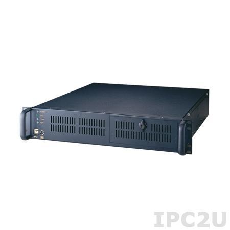 """ACP-2000EBP-00BE 19"""" корпус 2U для объединительной платы PICMG 1.3, 6 слотов, 2xUSB, 1xPS/2, с SMART Control Board, без источникома питания"""
