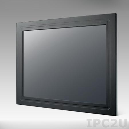 """IDS-3212R-45SVA1E 12"""" LCD монитор LED, 800x600, 450 нит, 1xVGA, 1xDVI, 5-проводной резистивный сенсорный экран (1xRS232, 1xUSB), 12V DC-in"""