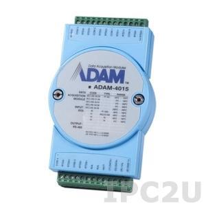 ADAM-4015-CE Модуль ввода, 6 каналов аналогово ввода сигнала с термосопротивления, Modbus RTU/ASCII
