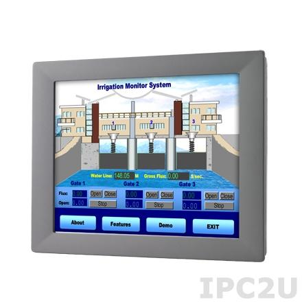 """FPM-2150G-R3BE Промышленный 15"""" TFT LCD LED монитор, 1024x768, яркость 400 нит, резистивный сенсорный экран (RS-232 & USB), VGA, адаптeр питания 100-240В AC DC 60Вт"""