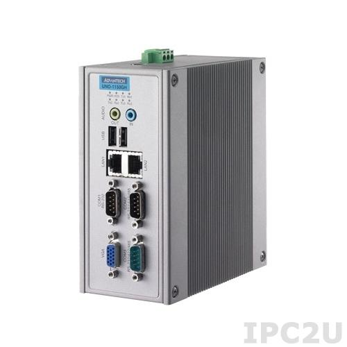 UNO-1150GH-G30E Встраиваемый компьютер на DIN-рейку c AMD Geode LX800 500МГц, 256Мб RAM, VGA, 2xLAN, 3xCOM, Audio