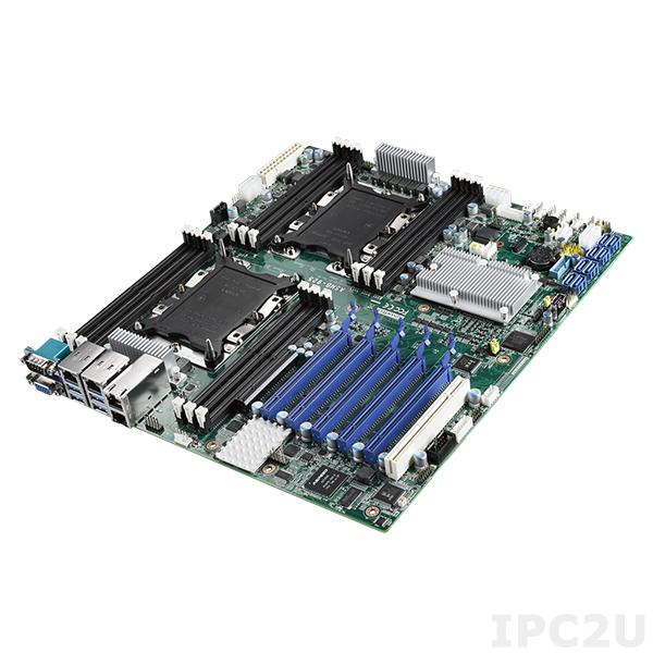 ASMB-925T2-00A1 Серверная процессорная плата ATX, поддержка процессоров 2х Intel Skylake-SP, чипсет Intel C622, до 384Гб DDR4 ECC RDIMM, VGA, 4xGb LAN, 8xSATA 3, 6xUSB 3.0, 1xPCI, 5xPCIe x16, 1xPCIe x8, Audio, SMBus