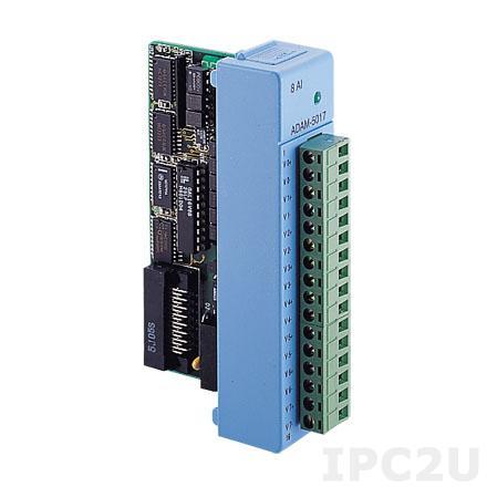 ADAM-5017-A4E Модуль ввода, 8 каналов аналогового ввода