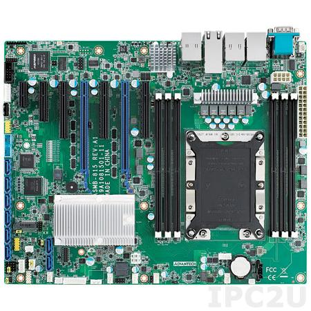 ASMB-815T2-00A1E Серверная процессорная плата ATX с поддержкой Intel Xeon Scalable, чипсет Intel С621, до 192Гб DDR4, VGA, 5xGb LAN (1xIPMI), 8xSATA 3.0, 5xUSB 2.0, 2xUSB 3.0, 2xRS-232, 1xPS/2, GPIO, 2xPCIe x16, 2xPCIe x8, 1xPCIe x4, 1xPCIe x1, LPC, SMBus