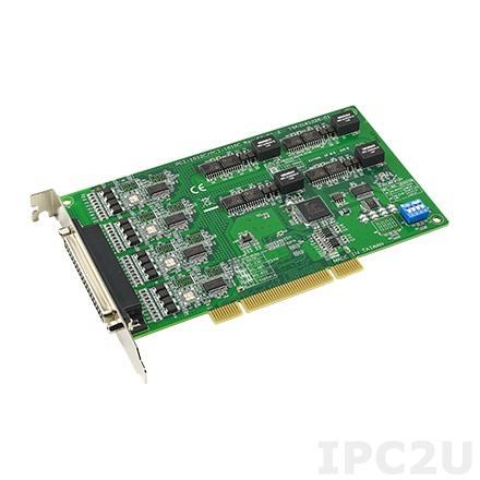 PCI-1610C-CE Universal PCI адаптер 4xRS-232 разъем DB37 Female, c защитой от перенапряжения и изоляцией, OPT4A кабель 1xDB37 в 4xDB9 Male
