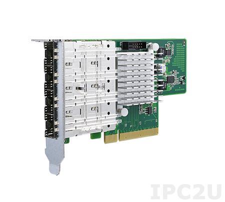 PCIE-2130NP-00A1E Сетевой адаптер Gigabit Ethernet, 4 порта GbE SFP на базе Intel I350-AM4, PCI Express x4 gen. 2, низкопрофильный