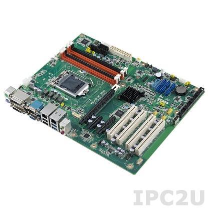 AIMB-784G2-00A1E Процессорная плата ATX, сокет LGA1150 для Intel Core i3/i5/i7/Pentium, до 32Гб DDR3 DIMM, VGA/2xDVI, 2xGb LAN, 5xCOM, 6xUSB 2.0, 4xUSB 3.0, GPIO, 6xSATAIII-600, Raid 0,1,5,10, слоты расширения 1xPCI- E x16, 1xPCI- E x4, 1xPCI- E x1, 4xPCI