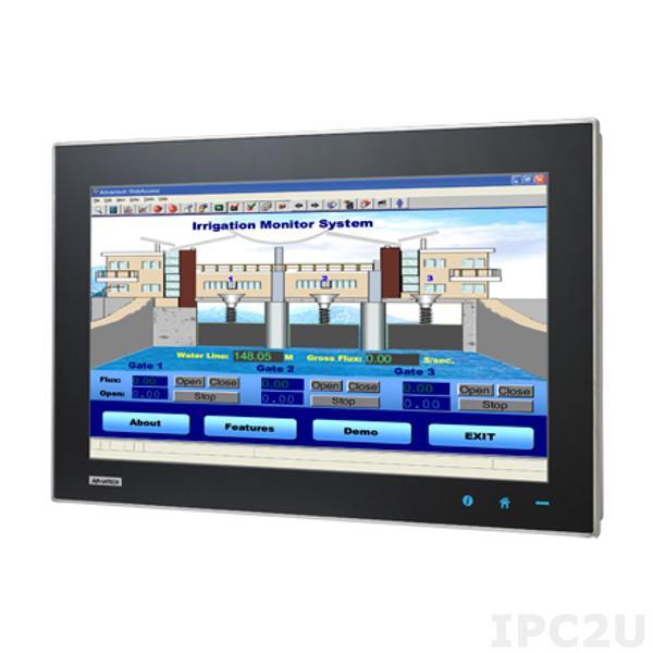 "TPC-2140WP-T3AE Безвентиляторная панельная рабочая станция с 21.5"" HD TFT LED LCD, емкостный сенсорный экран, AMD G-series T56E 1.65ГГц, 4Гб DDR3, 1xCFast, 4xCOM, 2xUSB 2.0, HDMI, 2xLAN, 1xMini-PCIe, Аудио, питание 18-32В DC"