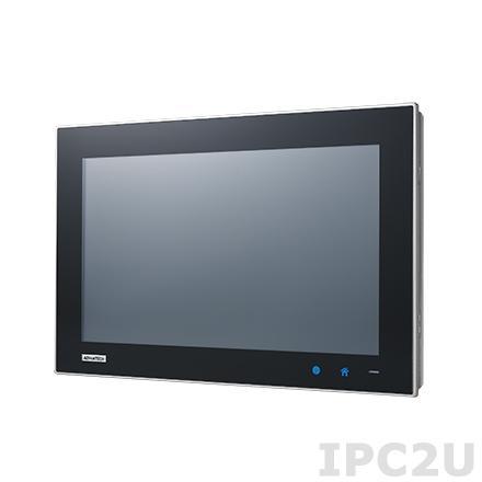 "TPC-1551WP-E3AE Безвентиляторная панельная рабочая станция с 15.6"" TFT LED LCD, емкостный сенсорный экран, Intel Atom E3827 1.75ГГц, 4Гб DDR3L, 1xCFast, 2xCOM, 1xUSB 2.0, 1xUSB 3.0, 2xLAN, 1xMini-PCIe, питание 24В DC"