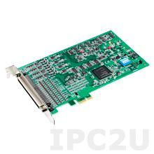 PCIE-1813-AE Плата ввода-вывода PCI Express, 38.4 kS/s, 26-Bit, 4 канала дифференциального аналогового ввода