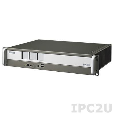 "ITA-2210-10A1E Промышленный безвентиляторный компьютер 2U в 19"" стойку для Ж/Д, Intel Atom D525 1.8ГГц, 2Гб DDR3, 1x3.5"" HDD отсек, 1xCF, 2xVGA, 2xGbE LAN, 8xUSB, 2xCOM, 1xGPIO, Аудио, 3xITAM, 1xPC/104+, 1xMini PCIe, два разъема питания AC DC"