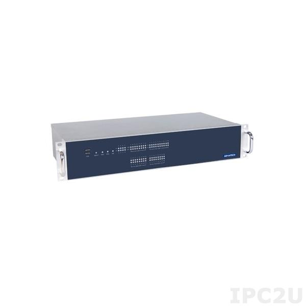 "ECU-4784-D55SBE Промышленный безвентиляторный компьютер 2 U в 19"" стойку, Intel Core i7-4650U 1.7 ГГц, 8 Гб DDR3L, 2x2.5"" SATA HDD (RAID 0,1), CFast, VGA, DVI, 10xCOM, 8xLAN, 6xUSB, 1xPCIex1, 1xPCI, источник питания 100-240В АС, 100-240В DC"