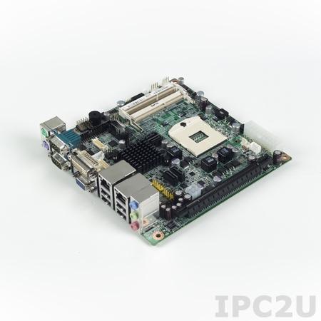 AIMB-270G2-00A1E Процессорная плата Mini-ITX, сокет uFC-PGA989 для Intel Core i7/i5/Celeron, до 8Гб DDR3 SO-DIMM, 2xDVI(1xОпционально), LVDS, CRT, 2xGb LAN, 6xCOM, RAID 0, 1, 5, 10, слоты 1xMiniPCIe, 1xPCI Express x16